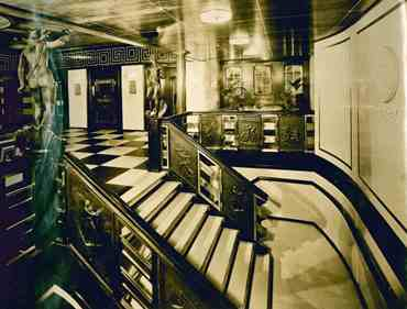 Collection of Photographs of Interiors of the Swedish American Cruise Ship MS Kungsholm. Swedish American Line.