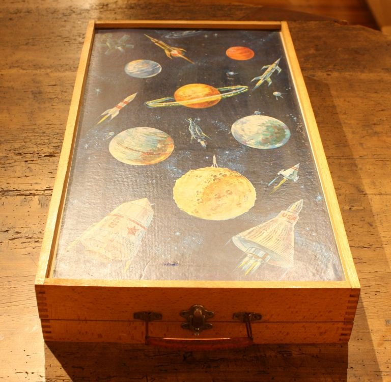 'Space Race' Wooden Tabletop Game.
