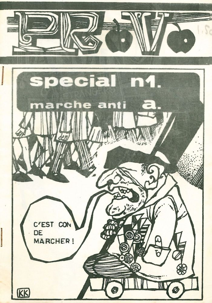 Provo special, nos. 1 (marche anti a.) and no. 2 (militariste) (all published). J. Valles, General Janssens.