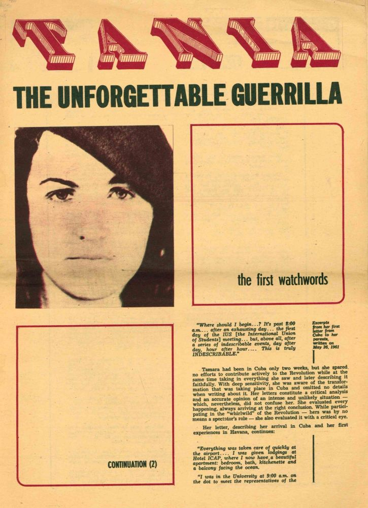 Tania: The Unforgettable Guerrilla. Nos. 2, 3, 4, 7, and 8 (22 November 1970 - 3 January 1971).