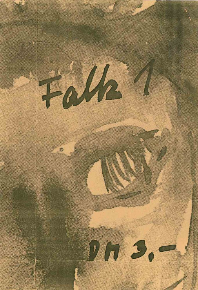 FALK. Loose Blätter für alles Mögliche. No. 1 (February 1984) through No. 36 (January 1987) (all published).
