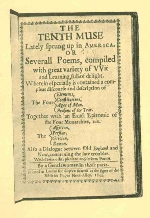 Early American Poetry. A Compilation of the Titles of Volumes of Verse and Broadsides by Writers...