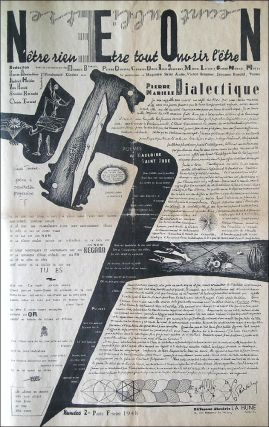 """N.E.O.N. N'Etre Rien. Etre Tout. Ouvrir l'Etre. (Subtitle after issue #3: """"Navigeur, Eveiller, Occulter N."""") Issues No. 1 (January 1948) through No. 5 (March 1949) (all published)."""