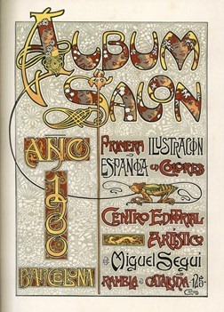 Album Salon. Primera Ilustracion Espanola en Colores. Ano 1897 through Ano 1907. (all published