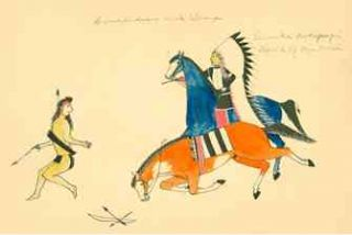 Sioux Indian Painting. I. Paintings of the Sioux and Other Tribes of the Great Plains. II. The Art of Amos Bad Heart Buffalo. Hartley Burr Alexander.
