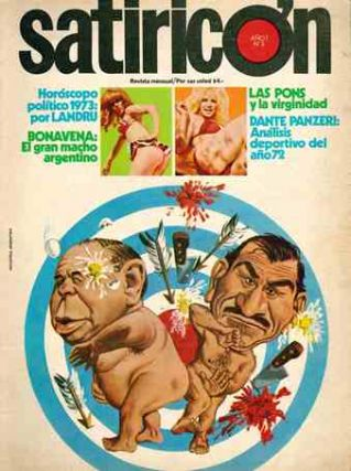 Satiricón. Revista Mensual. Year I, no. 1 (Nov. 1972) through Year III, no. 26 (March 1976).