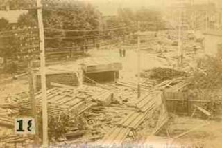 Collection of 19 Vintage Cabinet Card Views of the 1889 Johnstown Flood.
