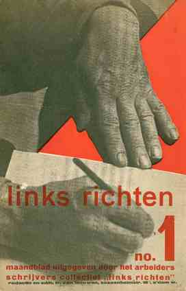Links Richten. No. 1 (n.d., 1932) through no. 11-12 (August 1933) (all published).