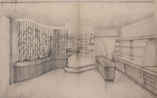 Group of Architectural Sketches, Drafts, and Blueprints.