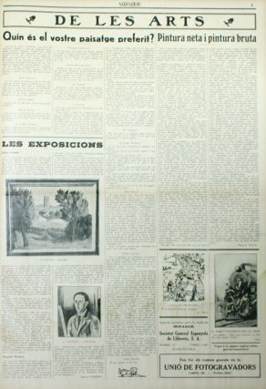 Mirador. Setmanari de Literatura, Art, i Politica. Year I, No. 1 (31 January 1929) through Year VIII, No. 389 (27 August 1936).