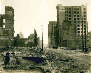 Photograph Album Documenting the Aftermath of the 1906 San Francisco Earthquake.