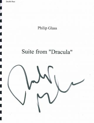 "Suite from ""Dracula"" Philip Glass."