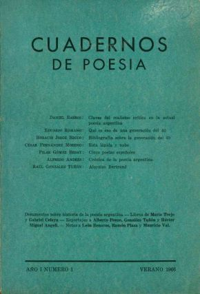 Cuadernos de Poesía. Year I, No. 1 (Summer 1966) (all published