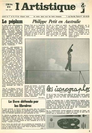 L'Artistique. No. 0 (n.d., 1973) through No. 4 (15 March 1974) (all published).