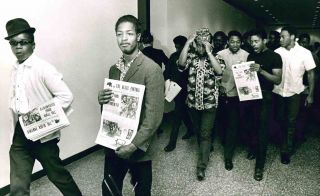Group of Black Panther Press Photographs.