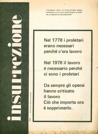 Insurrezione. 1977? through 1981 (issues unnumbered) (all published