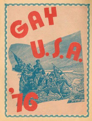 Gay U.S.A. '76 (title from cover).