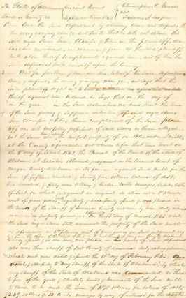 Handwritten Court Document Regarding Slavery in Alabama