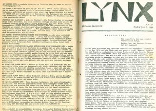 Lynx: Anmerkungen zu Politik und Literatur. No. 1 (March 1960) through No. 32 (Winter 1966/67) (all published).