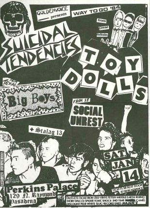 Archive of Performance Flyers for the Big Boys Punk Band.