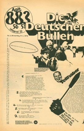Agit 883 56 51. Alternative title: Agit 883. [Various subtitles: Flugschrift für Agitation und Sozialistische Praxis; Kampfblatt der Kommunistischen Rebellen; Revolutionäre Aktion.] No. 1 (15 February 1969) through No. 84 (16 October 1971).