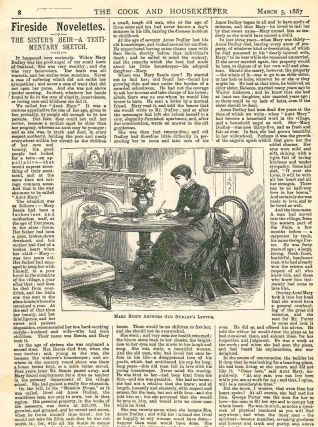 The Cook and the Housekeeper. A Journal for Every Home. Vol. I, No. 1 (5 March 1887) through Vol....