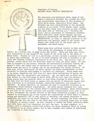Three Documents from the National Black Feminist Organization