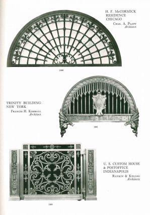 Ornamental Iron & Bronze. Executed by the Winslow Bros. Company, Chicago.