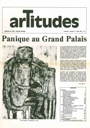 Artitudes. Revue Mensuel. No. 1 (October 1971) through No. 8/9 (July/August/September 1972) (all...