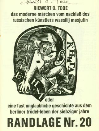 Randlage. Nos. 1 (1978) through 24 (March 1987). Continued as Kreuzberger Randlage. Nos. 25 (1987) through 45-47 (2018) (all published).