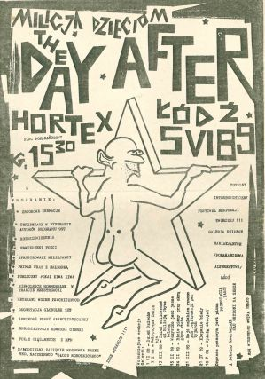 Small poster for a series of political happenings in Łódź, late 1988 and early 1989. Galeria...