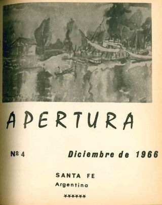 Apertura. Revista Literaria. No. 1 (July 1965) through No. 13 (December 1972) (all published?