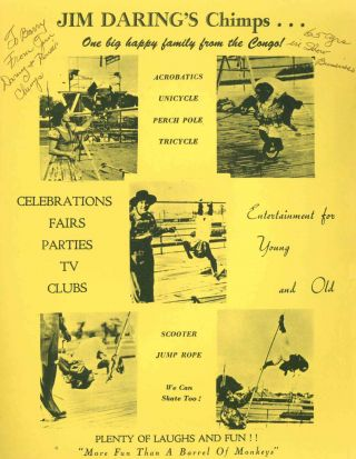 """Photographic Archive Covering the Career of Circus Performers Jim and Renee, """"The Darings"""" (aka Edith & Joseph Gieringer)."""