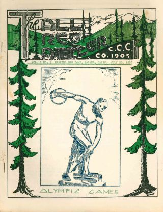 The Tall Tree Tattler. C.C.C. Co. 1905. Vol. 2, Nos. 1, 7, and 8.