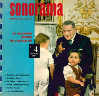 Sonorama. Le Magazine Sonore de l'Actualité. No. 1 (October 1958) through No. 42 (July/August 1962) (all published).