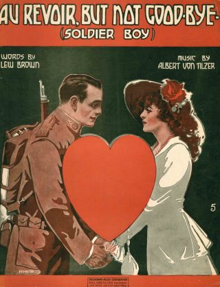 Collection of First World War American Sheet Music.