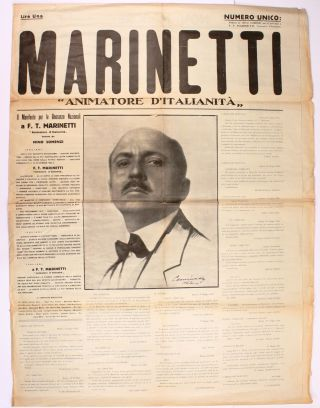 "Marinetti, ""Animatore d'Italianità"" (1924) (all published"
