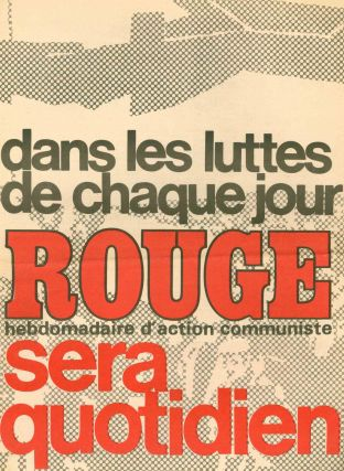 Collection of Supplementary Booklets and Associated Volumes for Rouge: Journal d'Action Communiste