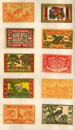 Early Trade Catalog of Japanese Matchbox Labels by the Manfat Company. Including 500 different...