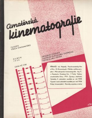Amatéřská kinematografie: časopis všech kinoamatérů [Amateur cinematography: a journal for...