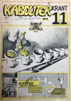 "Kabouter Krant. No. 1 (n.d., 1970) through No. 12 (1 May 1971) plus Supplement ""Kabouterkrant..."