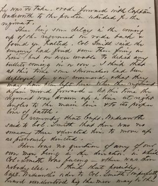 Civil War-era Letter from the Fight on Culp's Hill at the Battle of Gettysburg.