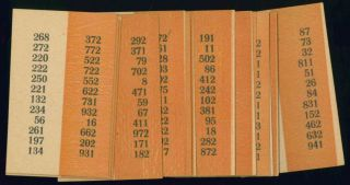 Group of four mathematical games and logic puzzle pamphlets, 1930-1944.