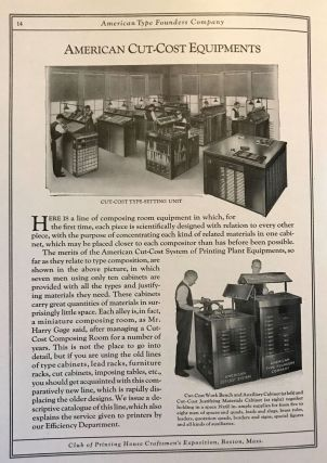 The Boston Graphic Arts Exposition, August 28 to September 2, 1922. Supreme Profit Makers. Exhibited by American Type Founders Company. Coincident with the Third Annual Convention of the International Association of Printing House Craftsmen.