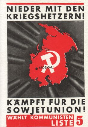 "Otkrytye pis'ma: seriia: Plakaty Kompartii Germanii. Plakate der K.P.D. [Postcards: Poster art of the German Communist Party. Posters of the KPD]. Seriia: ""Plakat Germanskoi Kompartii"" (23 siuzheta). Nagliadnoe posobie po izucheniiu zapadnogo revoliutsionnogo dvizheniia i zapadnogo revoliutsionnogo iskusstva plakatnoi zhivopisi [""Poster Art of the German Communist Party"" series, (23 visuals). A visual aid for the study of the western revolutionary movement and western revolutionary poster art]."