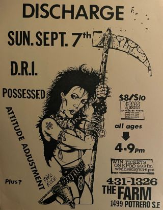 Large Collection of 1980s Bay Area Punk Flyers.