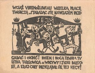 Myszy bez Kota [Mice without a Cat]. Political pamphlet with woodcut illustrations and text.
