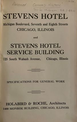 Stevens Hotel - Michigan Boulevard, Seventh and Eighth Streets, Chicago, Illinois and Stevens...
