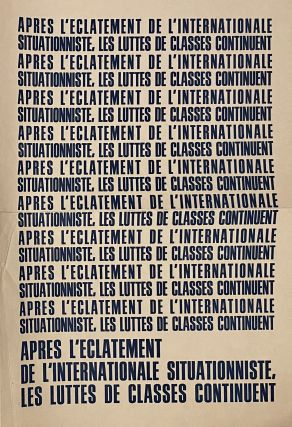 Les Luttes de Classes. No. 1 (October 1967), poster advertising issue no. 1, and Supplement au Numero 2 (June 1968) (all published).