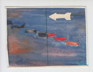 Seven original drawings documenting a series of UFO sightings in the Soviet Union.